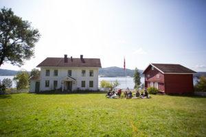 Bilde fra åpen dag på Søndre Green gård i 2017. Fotograf Øystein Haugerud.
