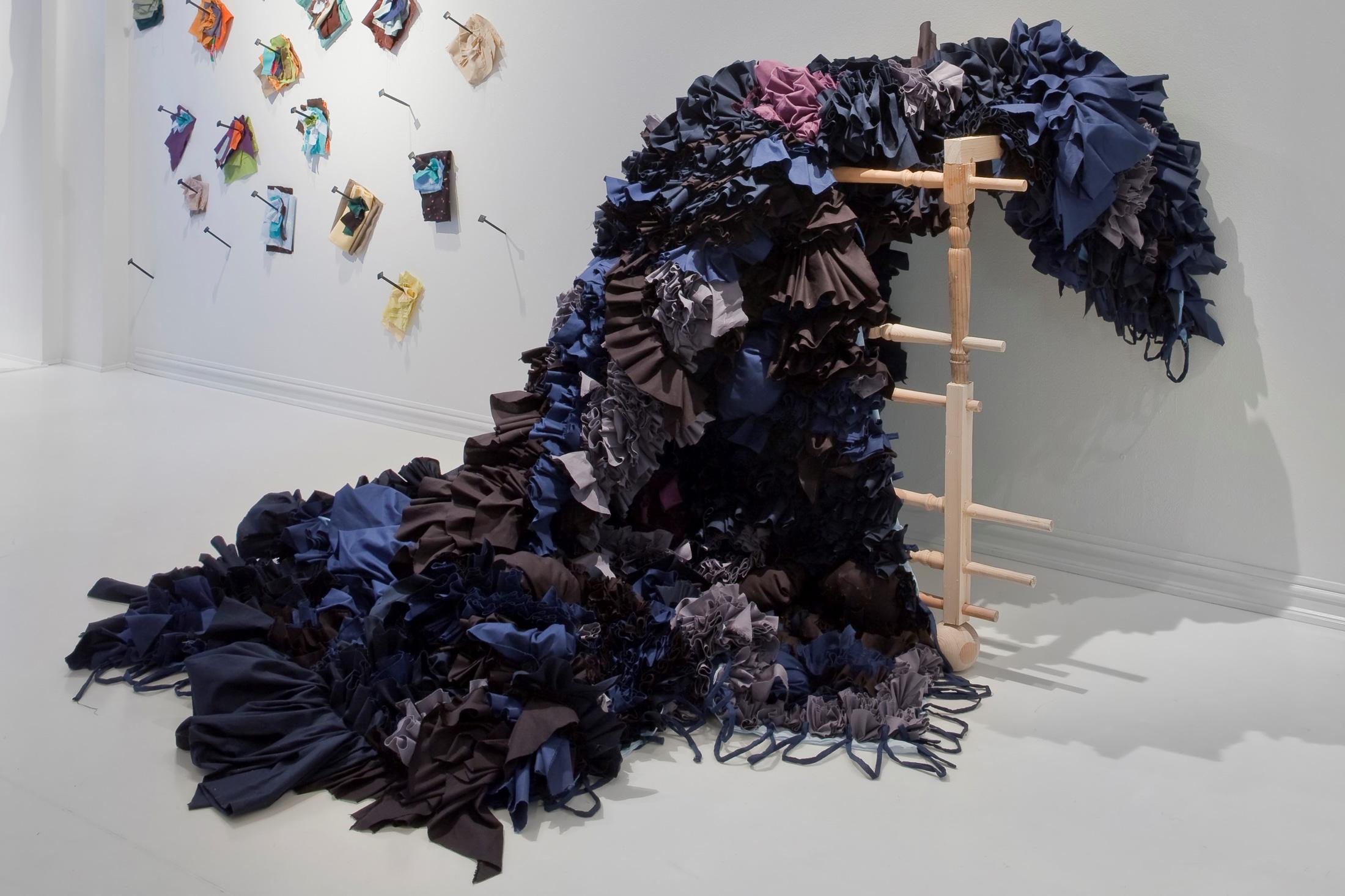 Fra John K. Rausteins utstilling Hemmeligheter uten sammenheng på SOFT galleri i 2014. Foto: Øystein Thorvaldsen.